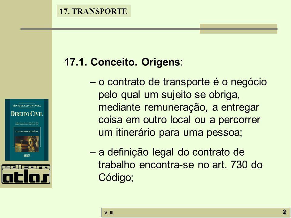17.TRANSPORTE V. III 2 2 17.1. Conceito.