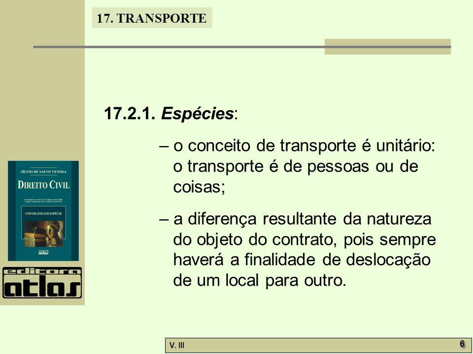17.TRANSPORTE V. III 7 7 17.3.