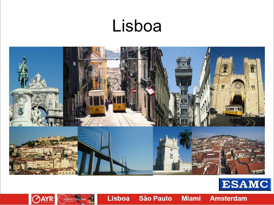 Lisboa São Paulo Miami Amsterdam Lisboa