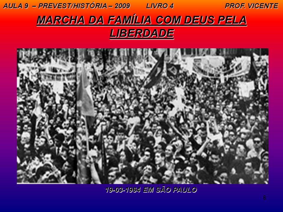 8 MARCHA DA FAMÍLIA COM DEUS PELA LIBERDADE AULA 9 – PREVEST/HISTÓRIA – 2009 LIVRO 4 PROF. VICENTE 19-03-1964 EM SÃO PAULO 19-03-1964 EM SÃO PAULO