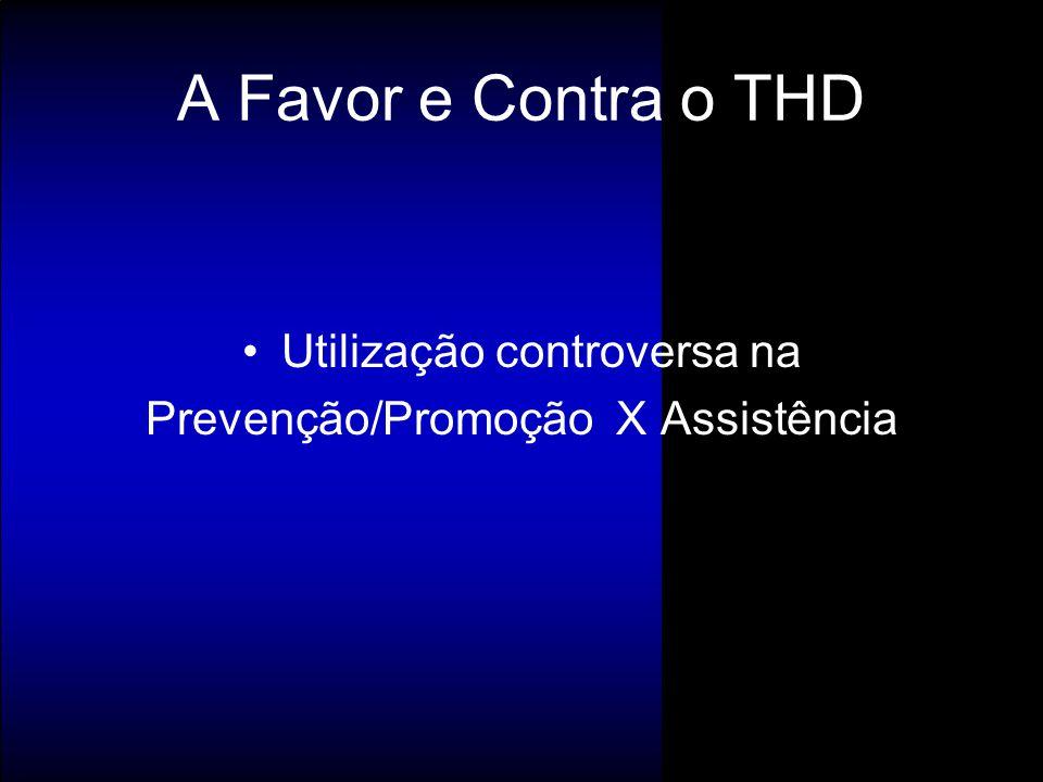 Utilização controversa na Prevenção/Promoção X Assistência A Favor e Contra o THD