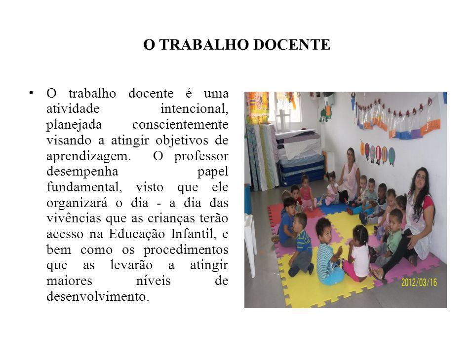 O TRABALHO DOCENTE O trabalho docente é uma atividade intencional, planejada conscientemente visando a atingir objetivos de aprendizagem. O professor