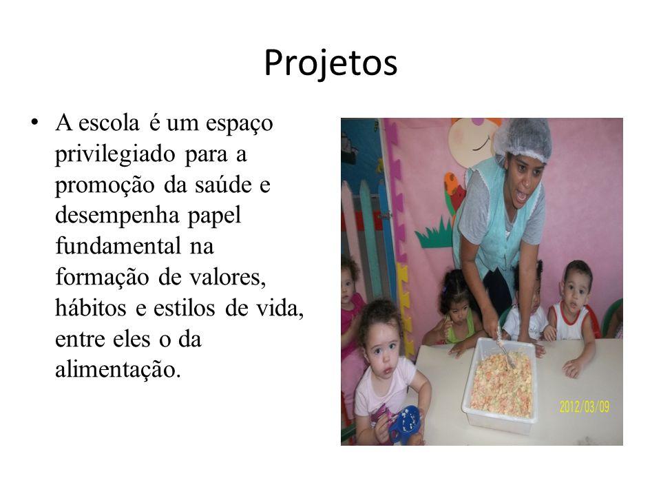 Projetos A escola é um espaço privilegiado para a promoção da saúde e desempenha papel fundamental na formação de valores, hábitos e estilos de vida,