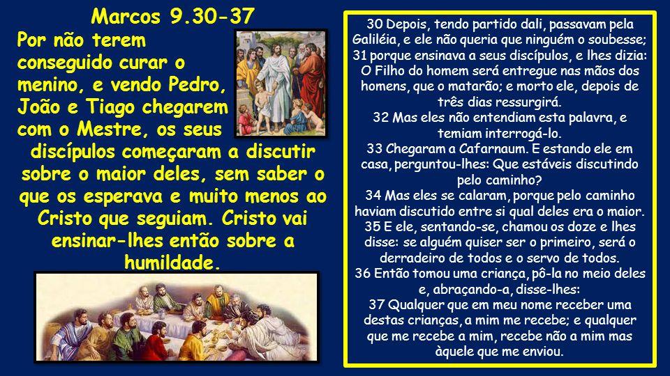 30 Depois, tendo partido dali, passavam pela Galiléia, e ele não queria que ninguém o soubesse; 31 porque ensinava a seus discípulos, e lhes dizia: O
