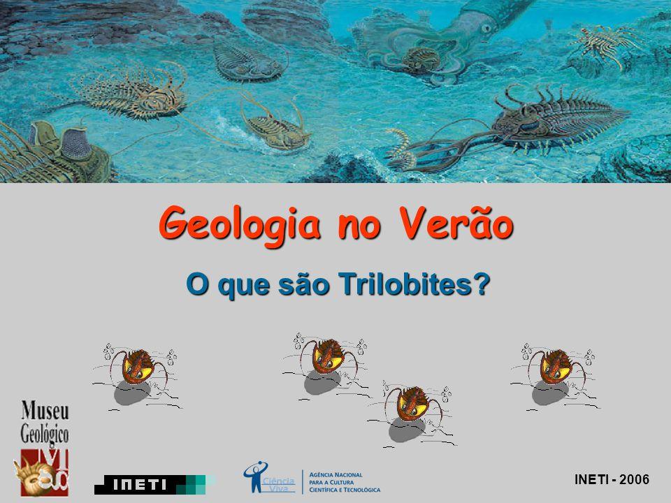 Geologia no Verão O que são Trilobites? INETI - 2006