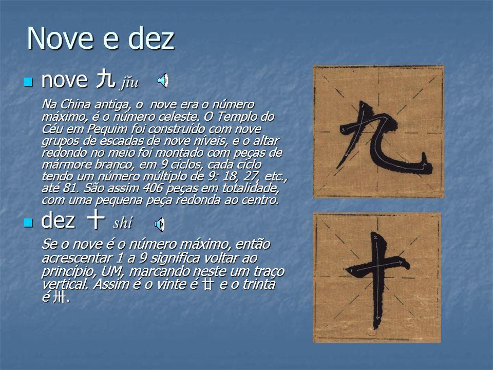 Sete e oito sete 七 qī sete 七 qī SETE é o número organizador da vida YIN, ou seja, se o traço horizontal simboliza a Terra, então o segundo traço que v