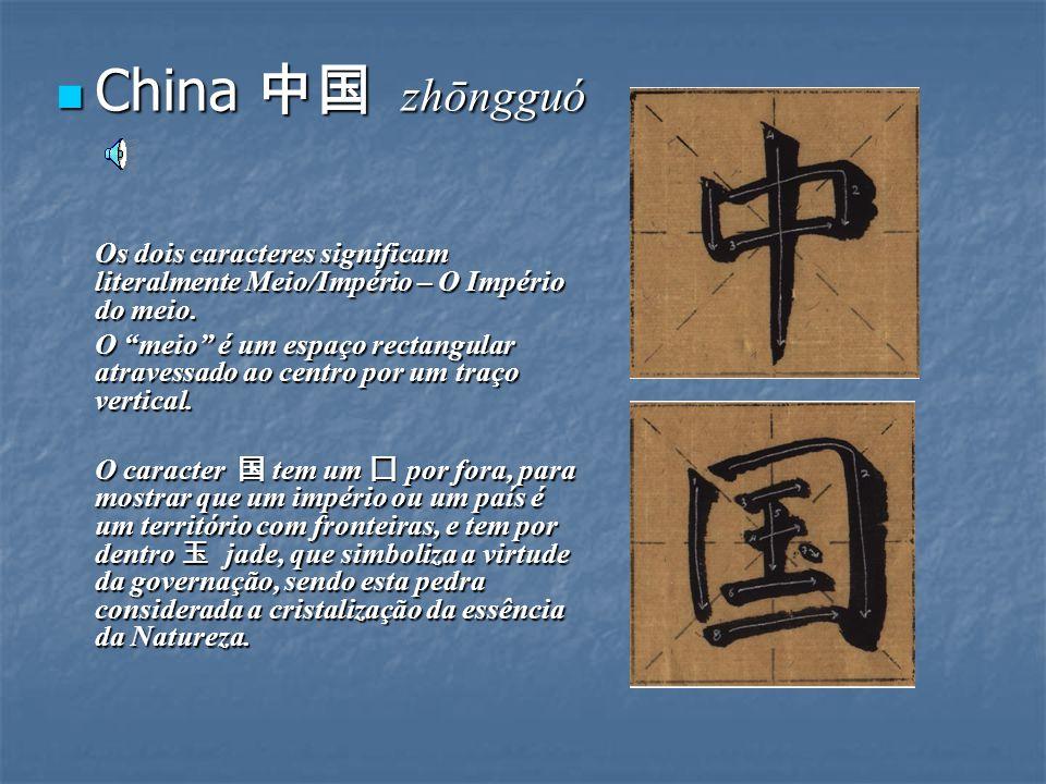 Cada caracter ocupa um espaço quadrado imaginário. Na cultura chinesa, a forma quadrada simboliza o mundo – assim, fazemos as marcações no papel de ar