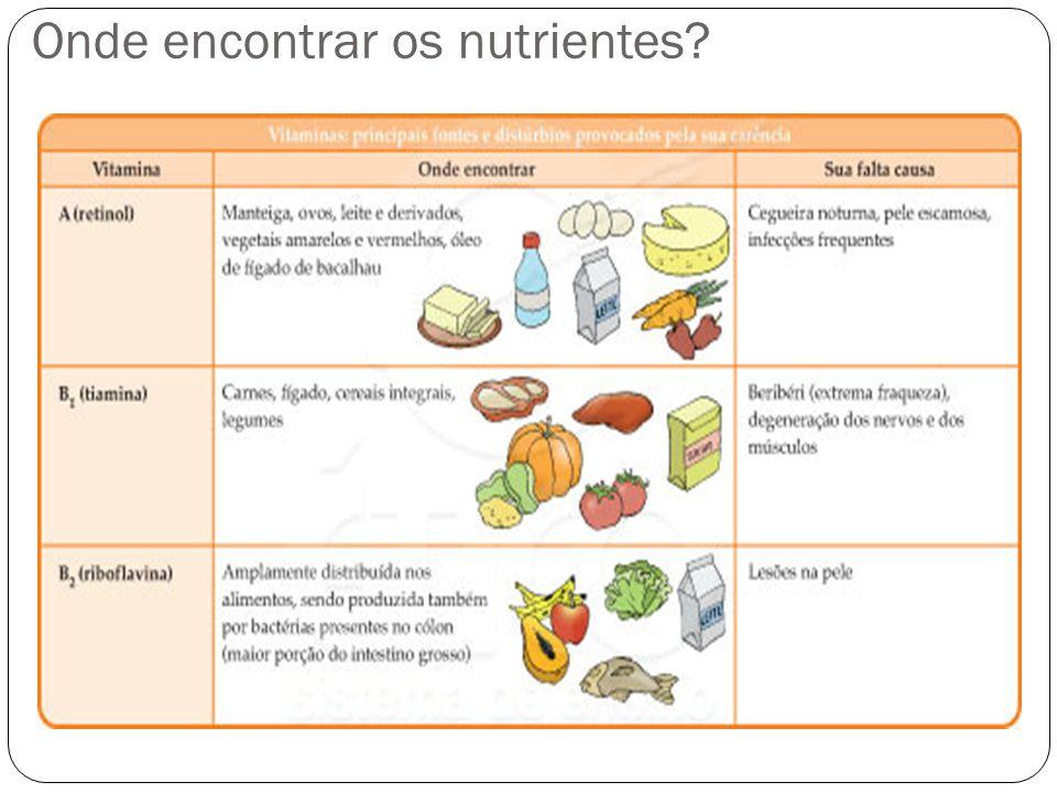 Onde encontrar os nutrientes?