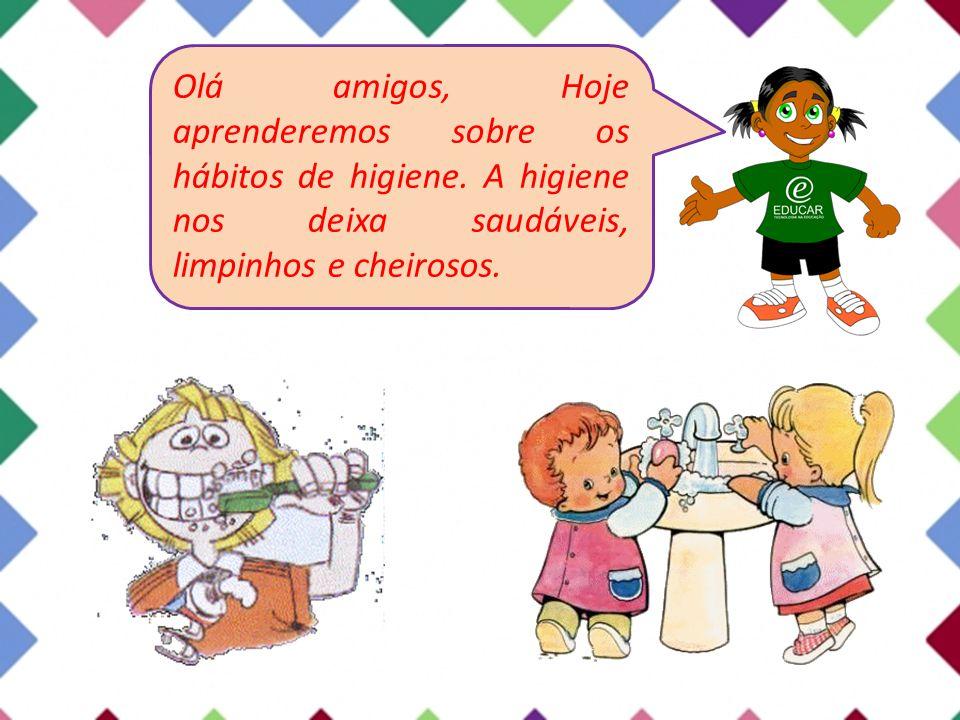 Atividades Marque as crianças que estão praticando hábitos de higiene.
