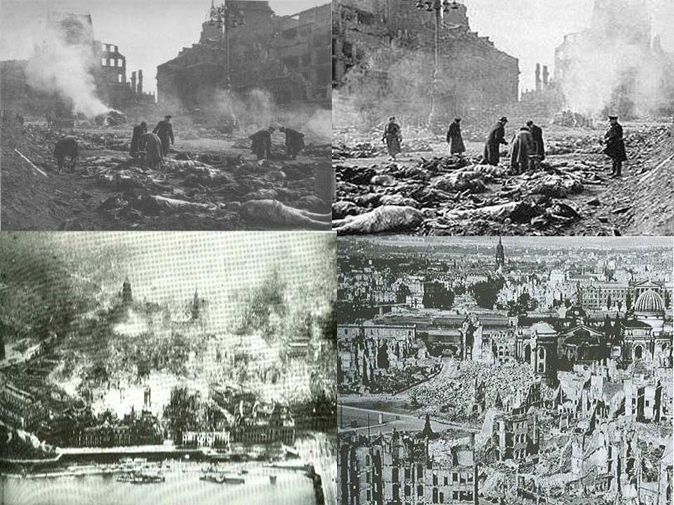 Dresden… Em 13 de fevereiro de 1945, bombas de fósforo, ordenado por Churchill, foram lançadas deixando a cidade praticamente arrasada.