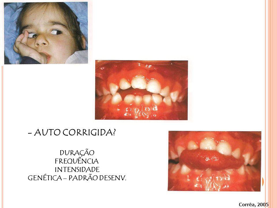 Corrêa, 2005 - AUTO CORRIGIDA? DURAÇÃO FREQUÊNCIA INTENSIDADE GENÉTICA – PADRÃO DESENV.