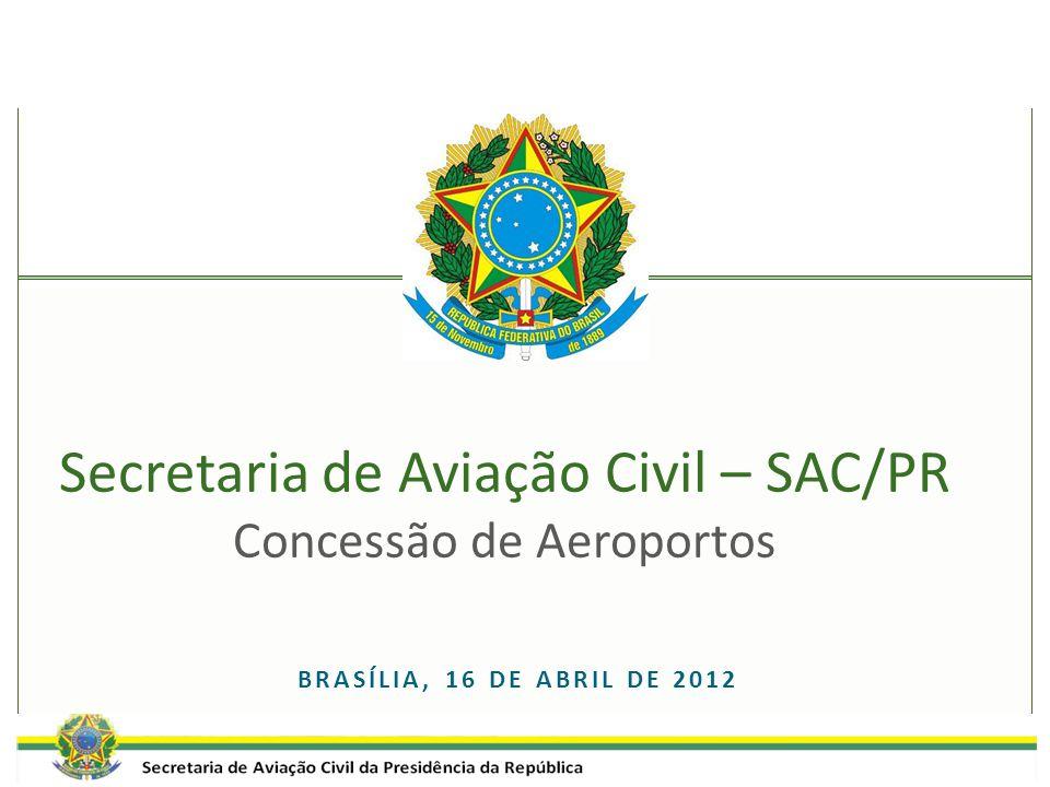 BRASÍLIA, 16 DE ABRIL DE 2012 Secretaria de Aviação Civil – SAC/PR Concessão de Aeroportos