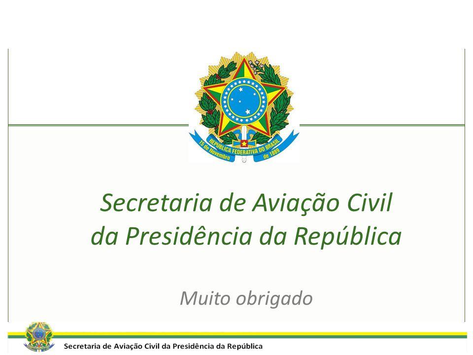 Secretaria de Aviação Civil da Presidência da República Muito obrigado