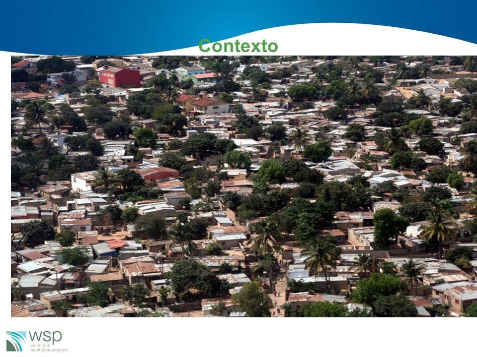Contexto Perto 80% da população urbana reside nas áreas peri-urbanas –Aparentemente uma alta cobertura de saneamento –Ocupação desordenada do espaço u