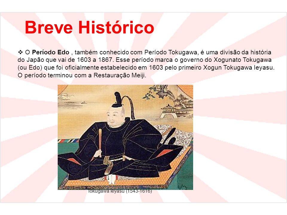 Breve Histórico  O Período Edo, também conhecido com Período Tokugawa, é uma divisão da história do Japão que vai de 1603 a 1867. Esse período marca