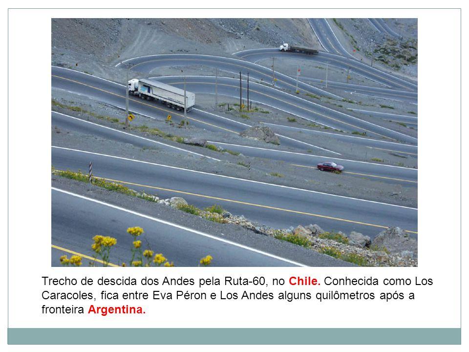 Trecho de descida dos Andes pela Ruta-60, no Chile.