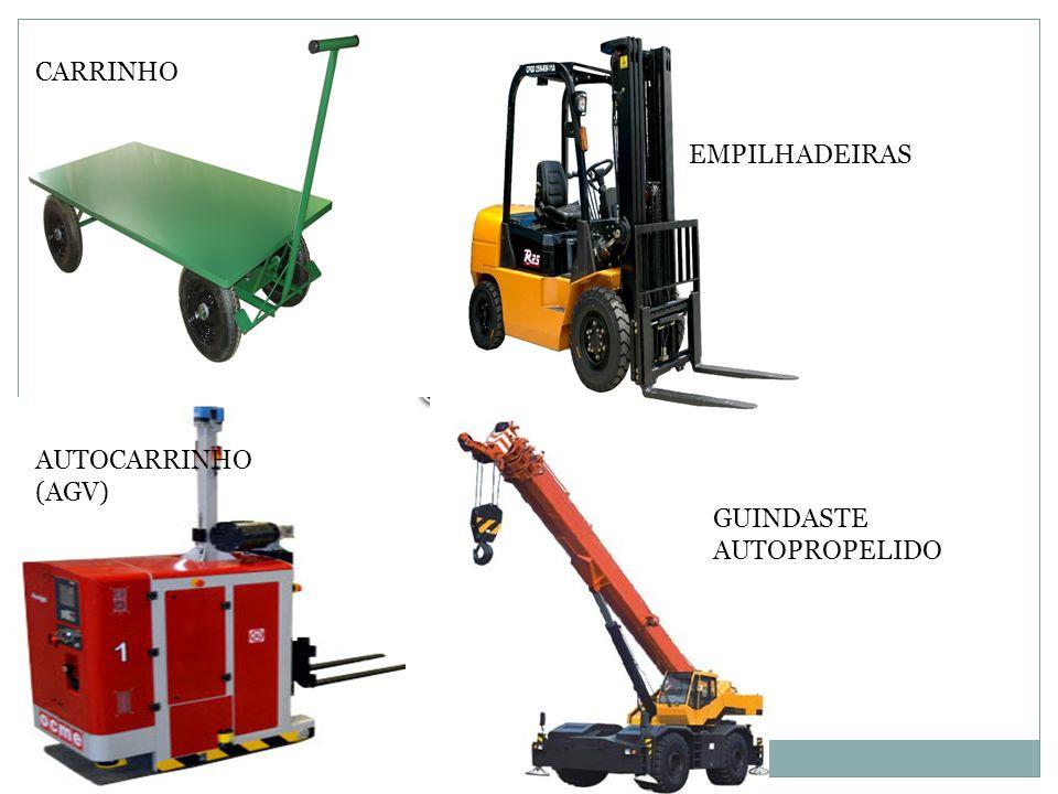 CARRINHO EMPILHADEIRAS AUTOCARRINHO (AGV) GUINDASTE AUTOPROPELIDO