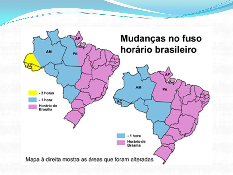 O Brasil possui mais de um fuso horário, pois apresenta grande extensão territorial (4.319,4 Km) no sentido leste-oeste, fato que proporciona a existência de quatro fusos horários distintos, no entanto, graças ao Decreto n° 11.662/2008, o país passou a adotar somente três.