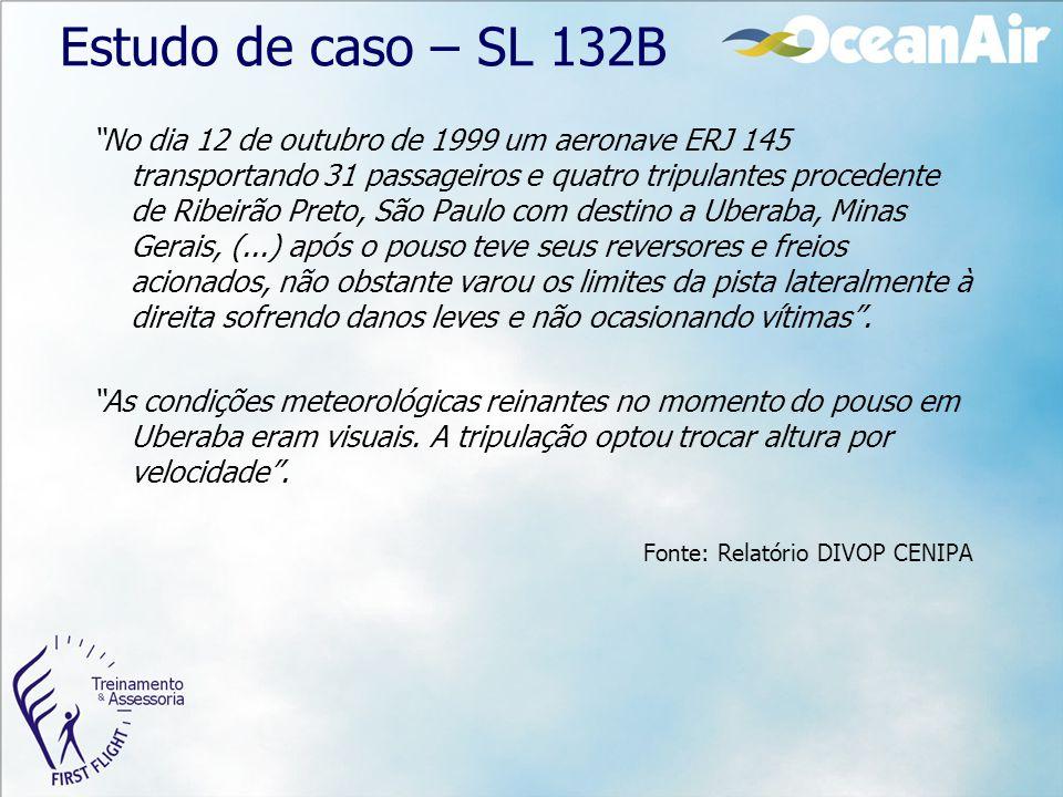 """""""No dia 12 de outubro de 1999 um aeronave ERJ 145 transportando 31 passageiros e quatro tripulantes procedente de Ribeirão Preto, São Paulo com destin"""