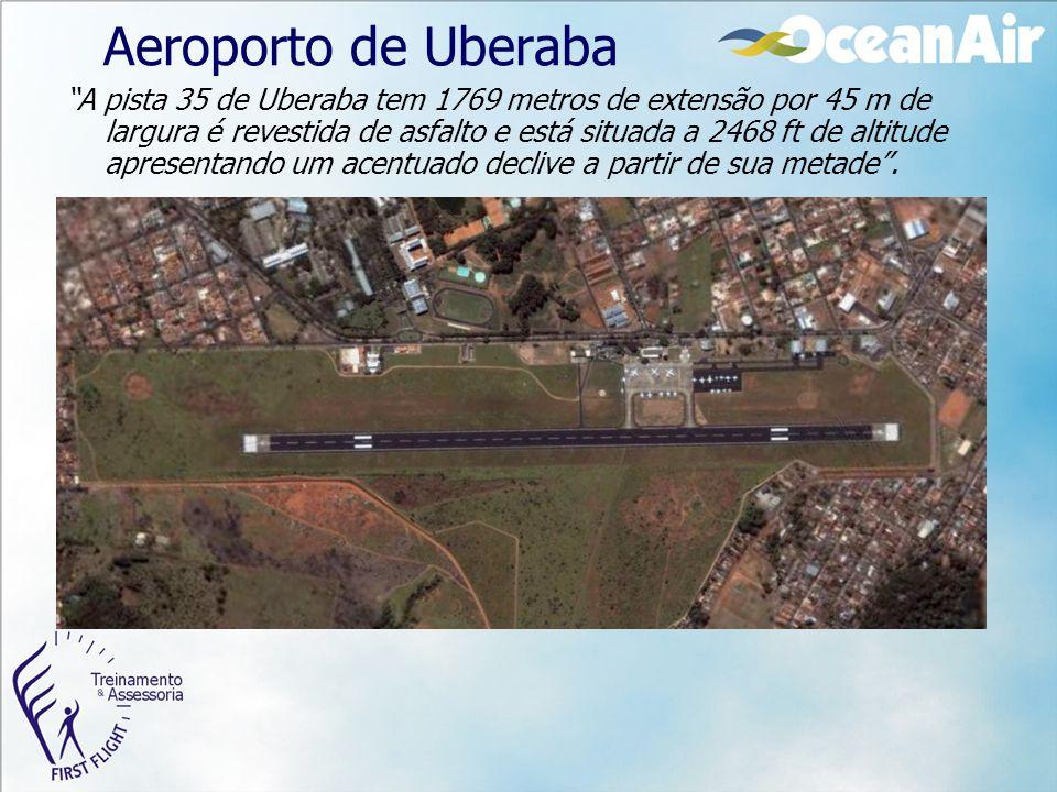 """Aeroporto de Uberaba """"A pista 35 de Uberaba tem 1769 metros de extensão por 45 m de largura é revestida de asfalto e está situada a 2468 ft de altitud"""