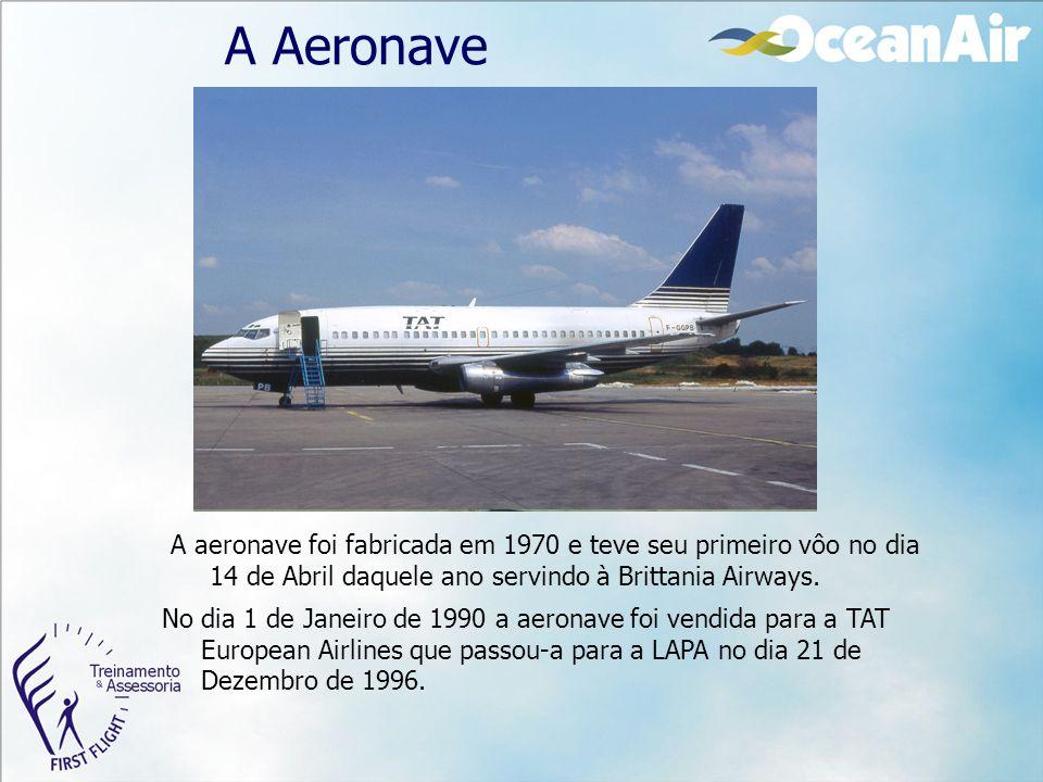 A Aeronave A aeronave foi fabricada em 1970 e teve seu primeiro vôo no dia 14 de Abril daquele ano servindo à Brittania Airways. No dia 1 de Janeiro d