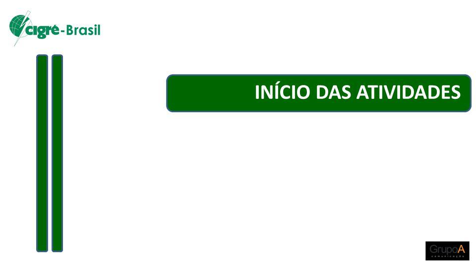 INÍCIO DAS ATIVIDADES