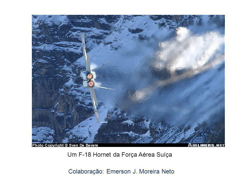 Um F-18 Hornet da Força Aérea Suíça Colaboração: Emerson J. Moreira Neto
