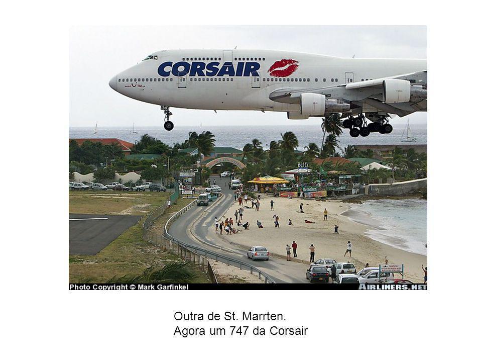 Isto é que é utilizar toda a pista (logicamente em St. Maarten)