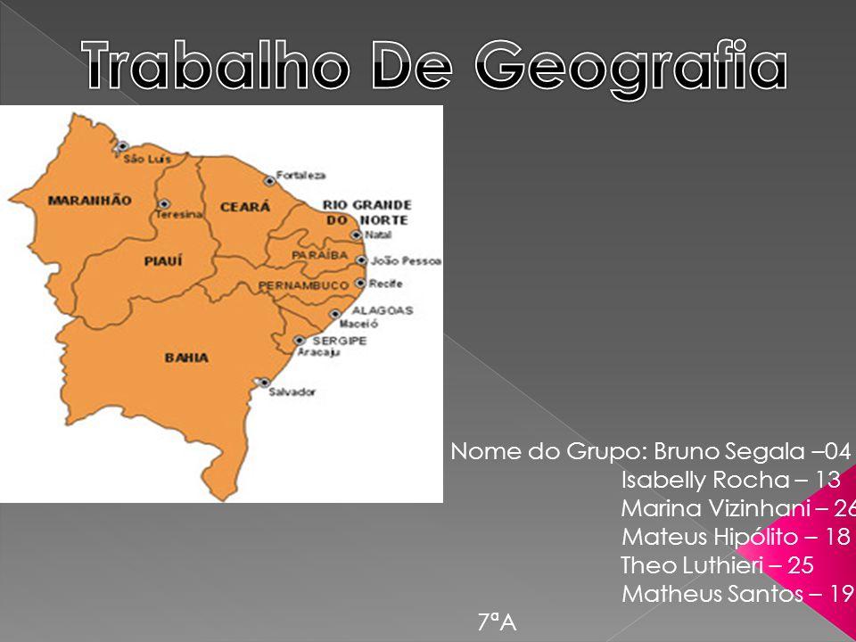 Iremos falar neste trabalho sobre a região Nordeste.Falaremos sobre as principais características desta região e mais um pouco.