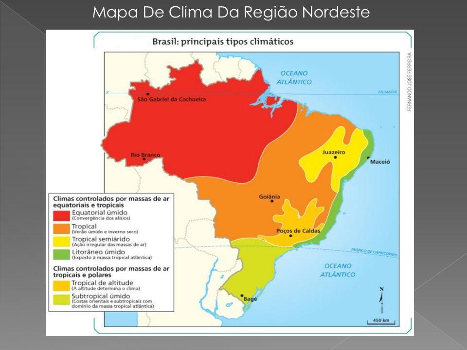 Mapa De Clima Da Região Nordeste