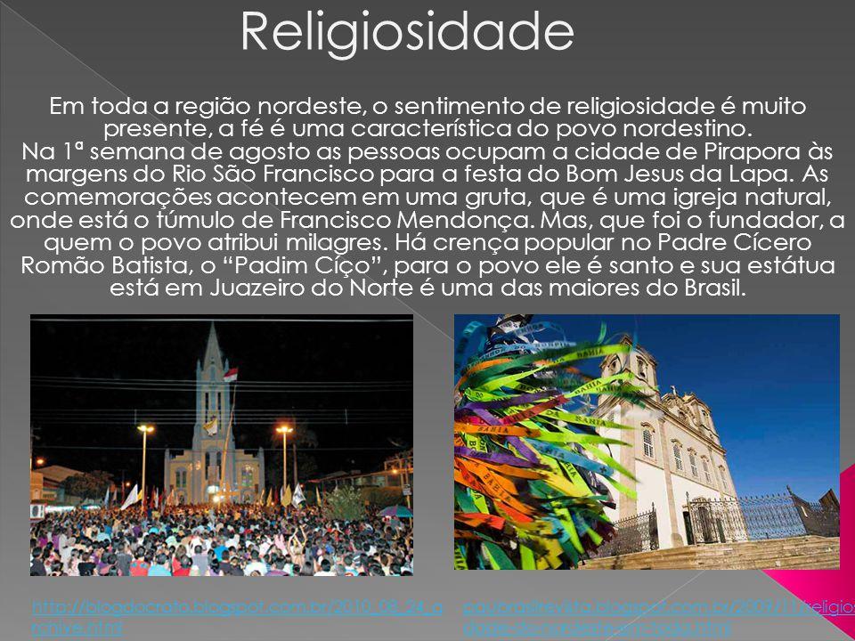 O candomblé, religião de raízes africanas, é bastante difundido, principalmente na Bahia.