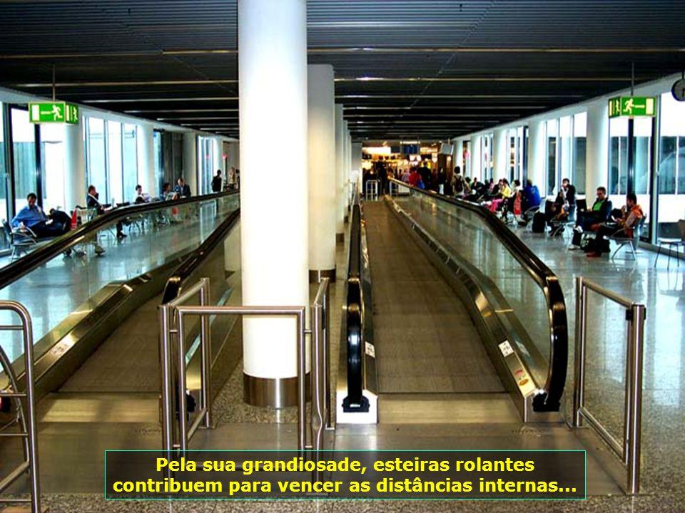 Frankfurt é um dos mais importantes centros econômico-financeiros da Europa, que resulta em grande movimento de passageiros...