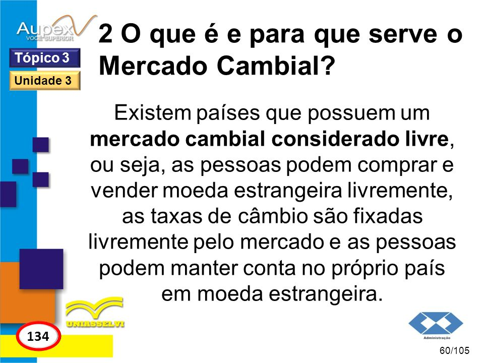 2 O que é e para que serve o Mercado Cambial.