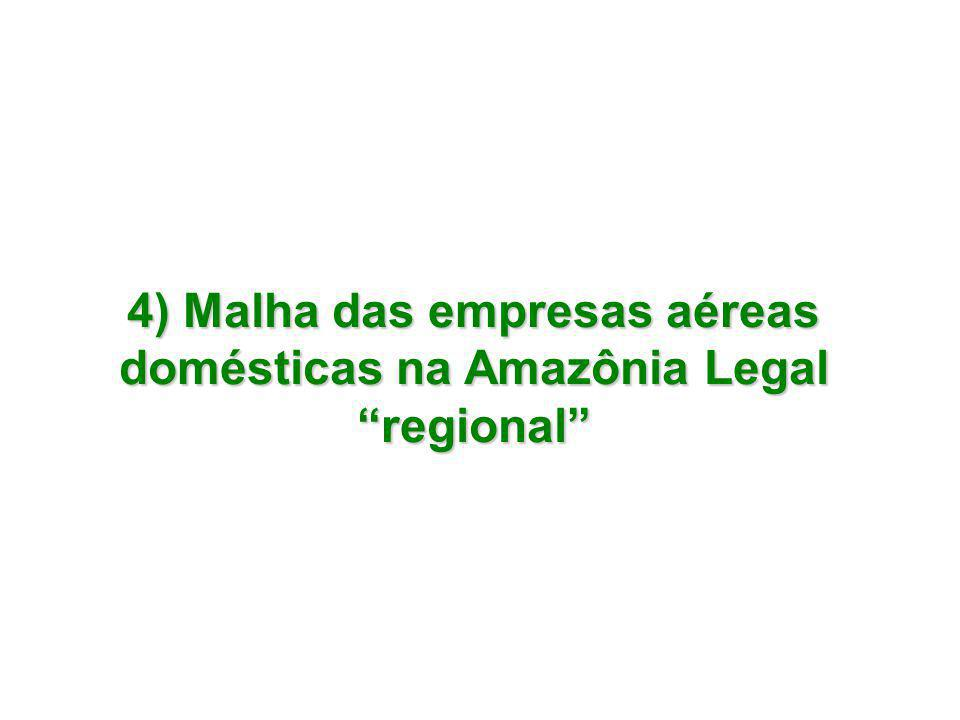 AeronaveQuant.Capacidade (passageiros) EMB-120 Brasília130 EMB-110 Bandeirante118 TOTAL248 Número de localidades atendidas:10
