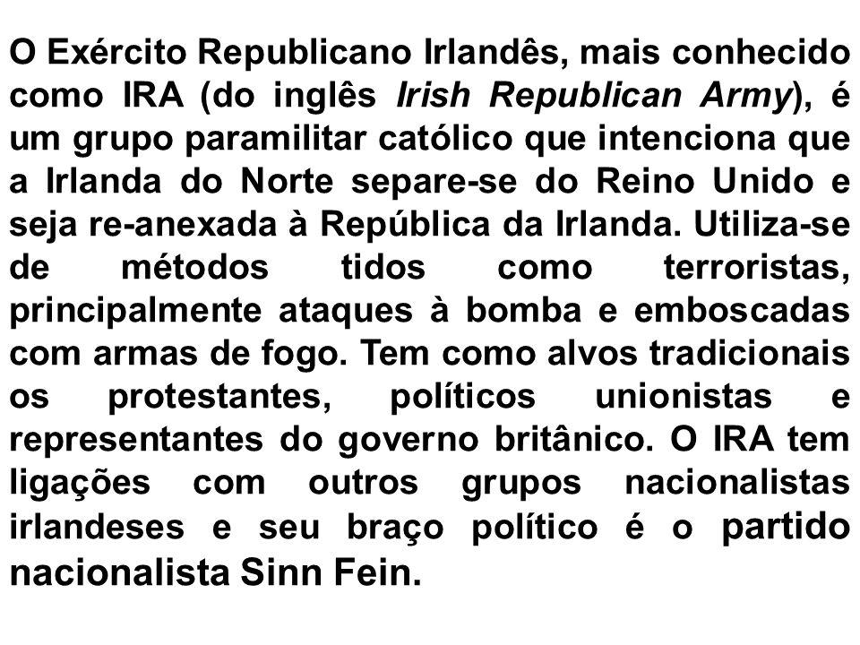 CAUSAS DO CONFLITO Invasão da ilha da Irlanda pelos Ingleses Posse da Irlanda do Norte por parte do Reino Unido Fraca participação dos católicos no go