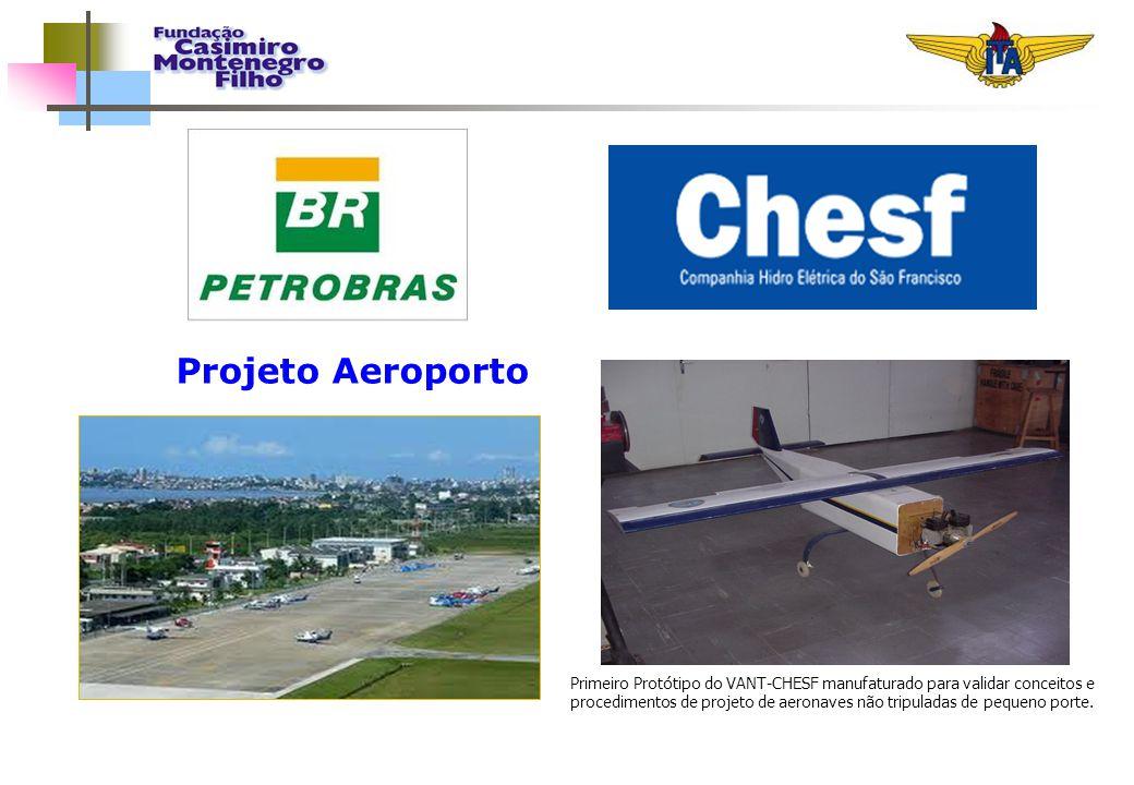 Projeto Aeroporto Primeiro Protótipo do VANT-CHESF manufaturado para validar conceitos e procedimentos de projeto de aeronaves não tripuladas de peque