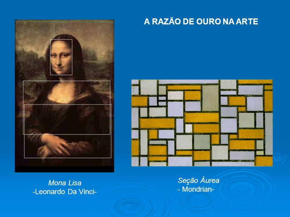 Mona Lisa -Leonardo Da Vinci- Seção Áurea - Mondrian- A RAZÃO DE OURO NA ARTE