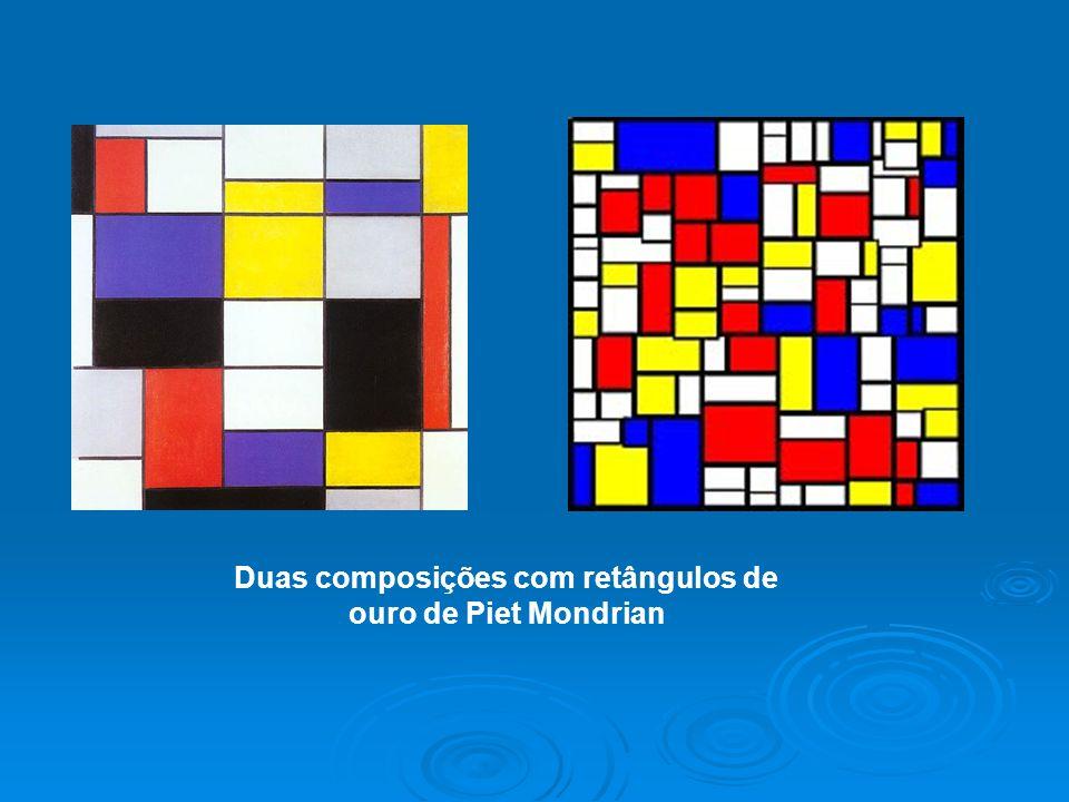 Duas composições com retângulos de ouro de Piet Mondrian