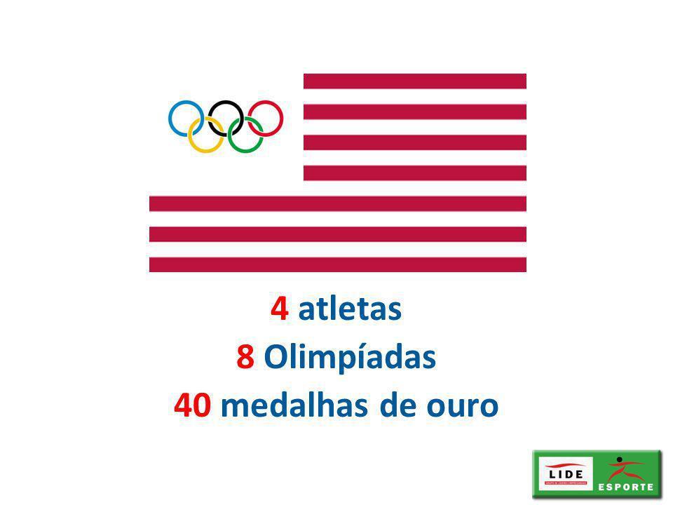 4 atletas 8 Olimpíadas 40 medalhas de ouro