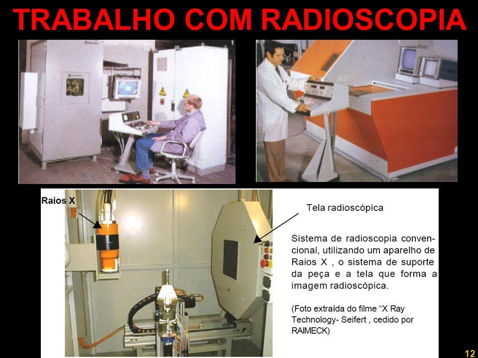 13 Professor Rodrigo Penna NOVAS TECNOLOGIAS ►Os sistemas mostrados são para radiografias industriais, mas dão uma boa idéia dos raios X de inspeção mais antigos.