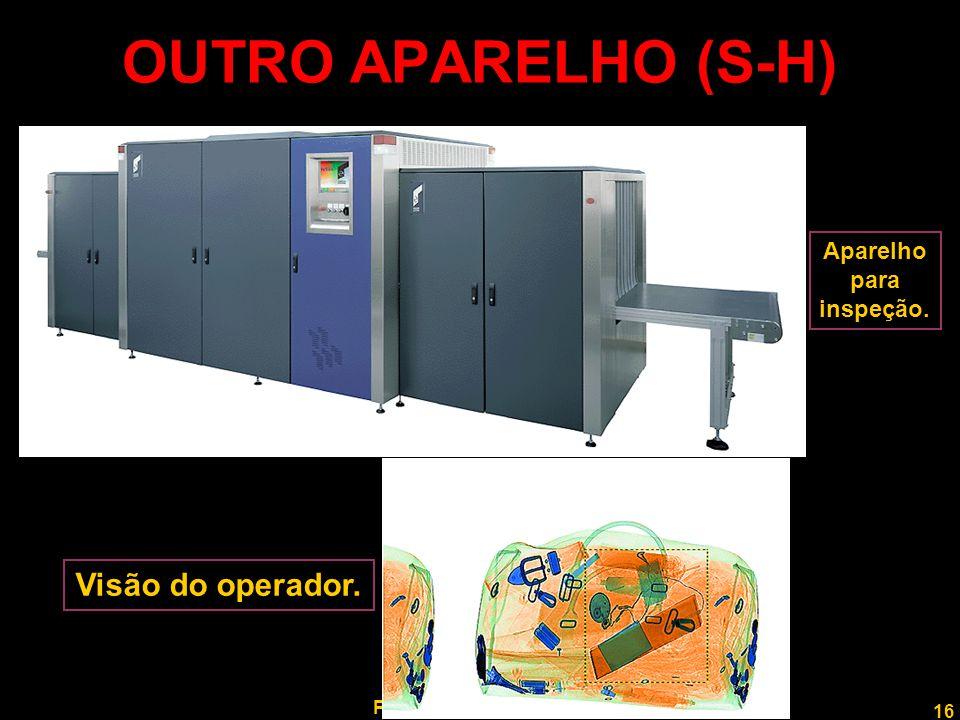 16 Professor Rodrigo Penna OUTRO APARELHO (S-H) Aparelho para inspeção. Visão do operador.