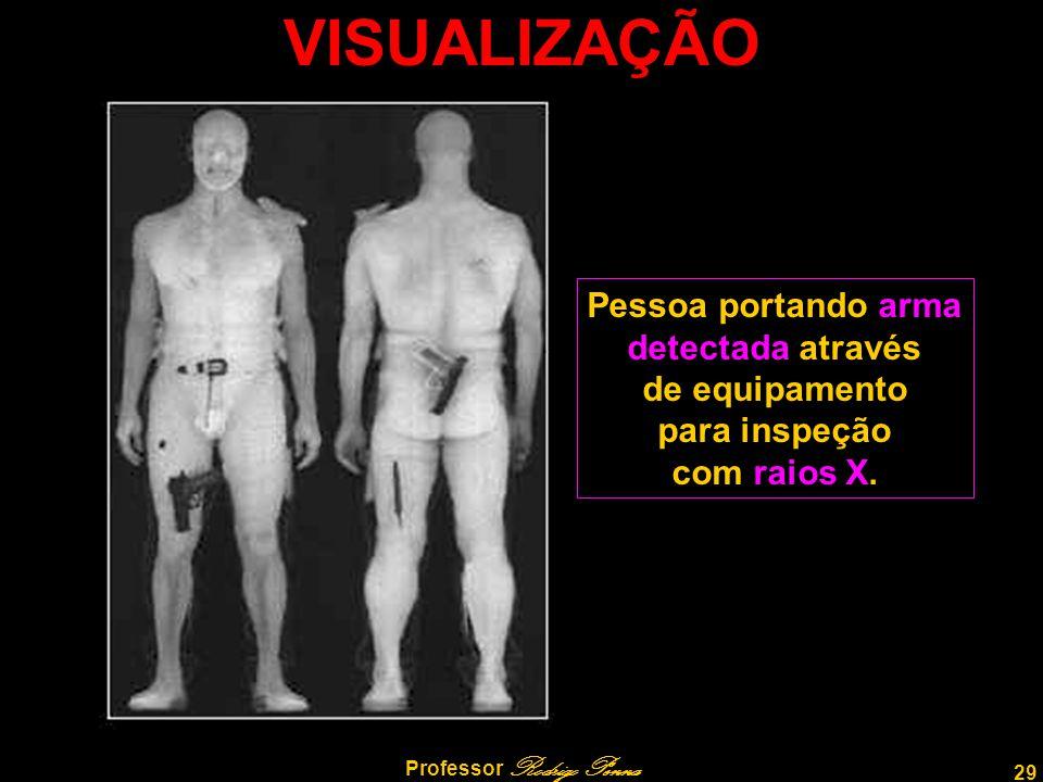 29 Professor Rodrigo Penna VISUALIZAÇÃO Pessoa portando arma detectada através de equipamento para inspeção com raios X.