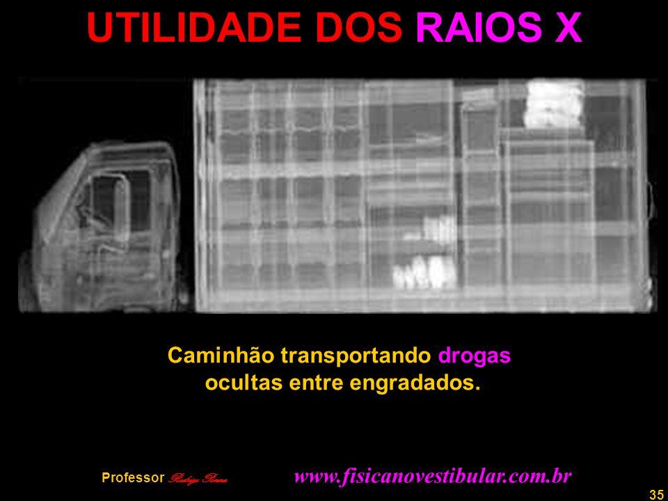 36 Professor Rodrigo Penna COCAÍNA ESCONDIDA Automóvel transportando cocaína oculta em fundo falso no compartimento de bagagem.