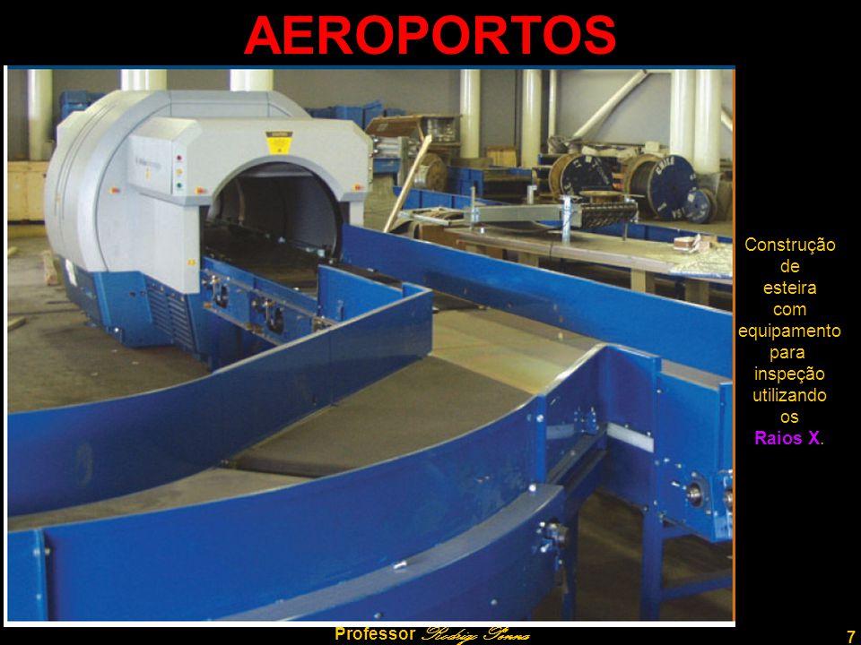 7 Professor Rodrigo Penna AEROPORTOS Construção de esteira com equipamento para inspeção utilizando os Raios X.
