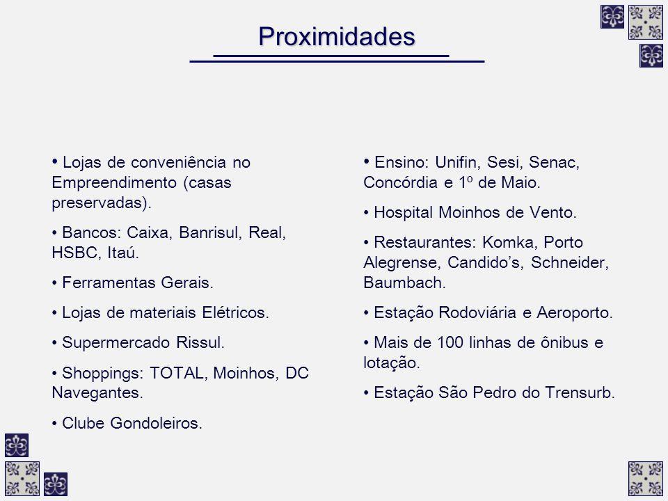 Proximidades Lojas de conveniência no Empreendimento (casas preservadas). Bancos: Caixa, Banrisul, Real, HSBC, Itaú. Ferramentas Gerais. Lojas de mate
