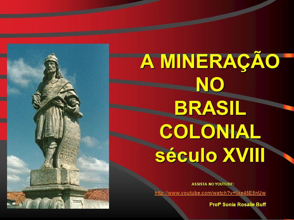 A MINERAÇÃO NO BRASIL COLONIAL século XVIII ASSISTA NO YOUTUBE: http://www.youtube.com/watch?v=Ilxe45E5nUw Profª Sonia Rosalie Buff