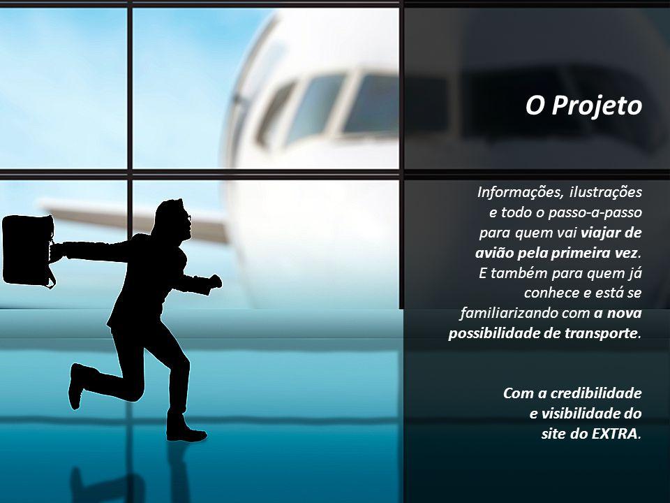 O Projeto Informações, ilustrações e todo o passo-a-passo para quem vai viajar de avião pela primeira vez. E também para quem já conhece e está se fam