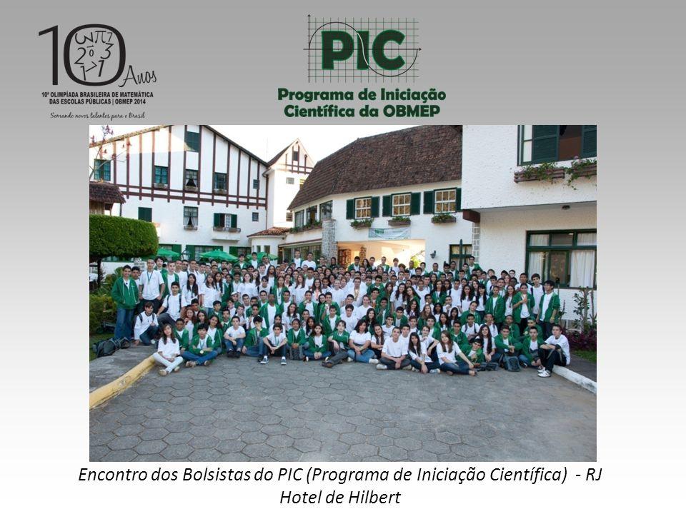 Encontro dos Bolsistas do PIC (Programa de Iniciação Científica) - RJ Hotel de Hilbert