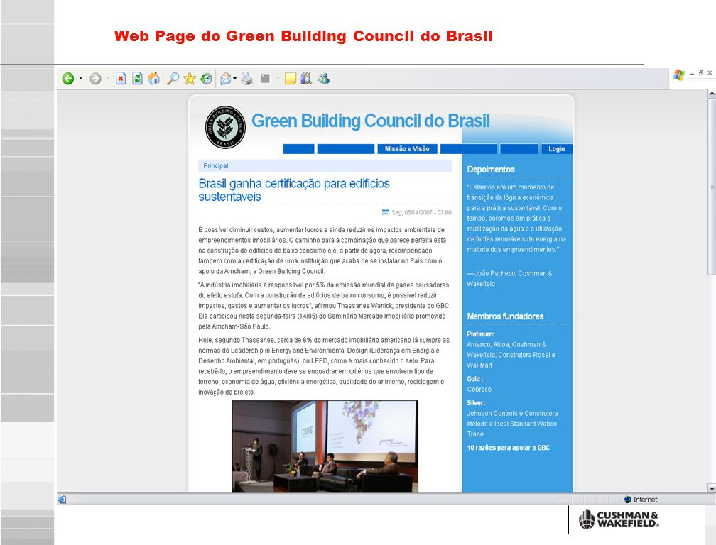 12 Web Page do Green Building Council do Brasil