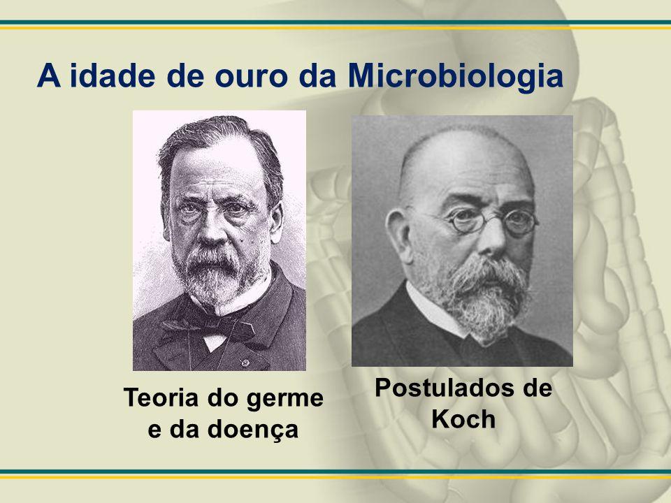 Teoria do germe e da doença Postulados de Koch A idade de ouro da Microbiologia